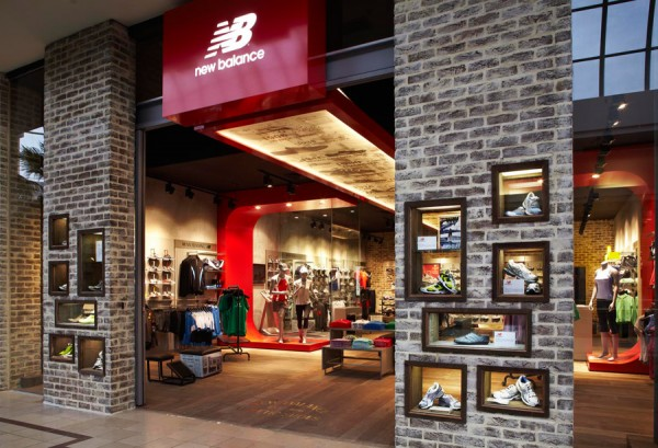 Branded furniture and displays for the New Balance flagship store in Chadstone, Melbourne.