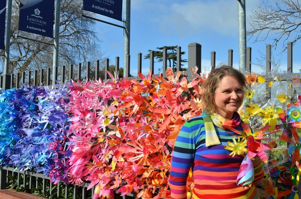 In celebration of Lauriston Girls School Arts Festival I worked with students aged 5 to 17 to create an installation of flowers made out of over 5,000 recycled plastic bottles which wrapped over 35 meters of the school boundary.
